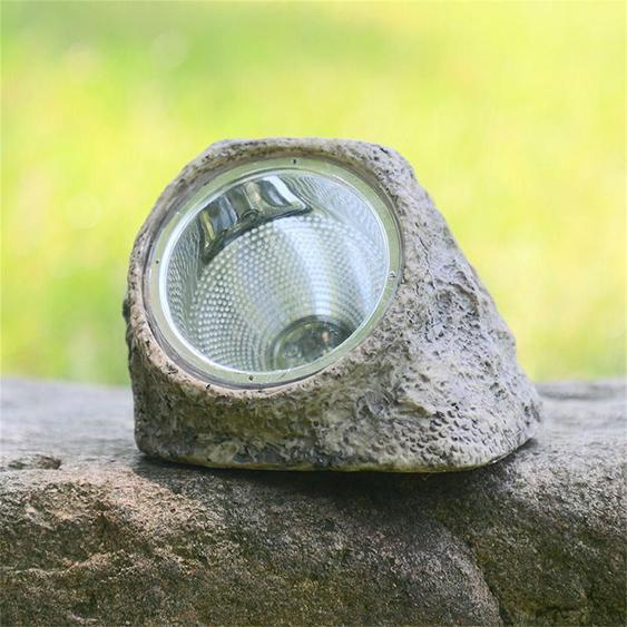 Solar Stone Spot Light Jardin Extérieur Led Paysage Décoratif Lampe De Pelouse Lumière Led 6002