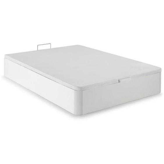 Sommier coffre HESTIA de DREAMEA PLAY - Blanc mat - 160 x 200 cm