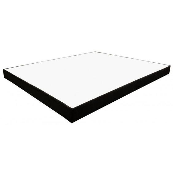 Sommier Essenzia Déco Simili Noir 160x200 STRETCH - Noir