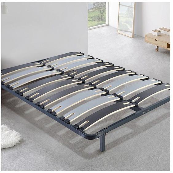 Sommier Morpholattes | 200x200cm | Lattes extra larges flexibles | Pieds inclus | 5 zones de maintien | Résistant et confortable