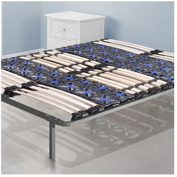 Sommier Nightitude 200x200cm | Sommier à lattes et plots flexibles | Pieds inclus