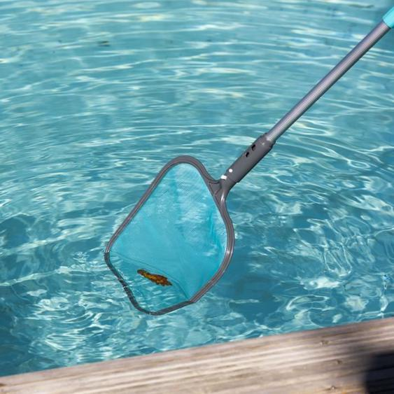 SPOOL Épuisette de surface avec manche télescopique - 3 x 35 cm