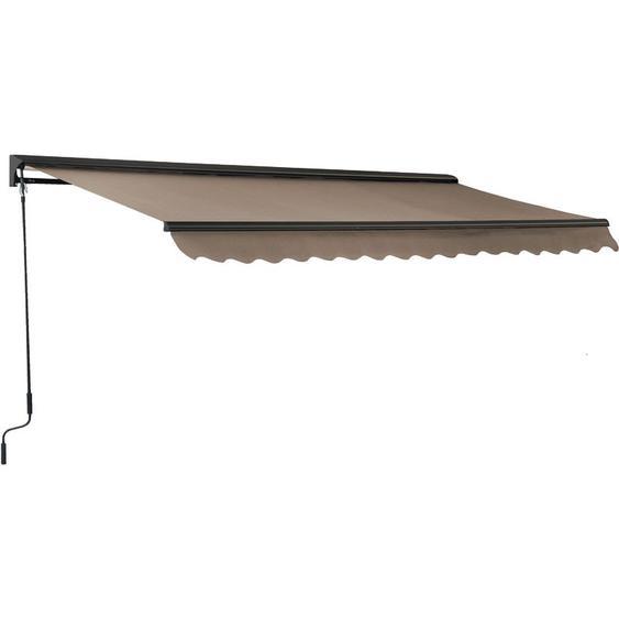Oviala - Store banne avec semi coffre 2,5 x 2 m Brehat - Beige