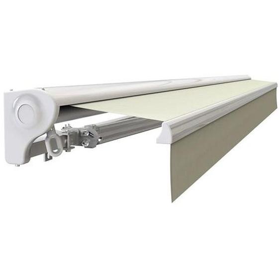 Store banne Demi coffre motorisé et manuel pour terrasse - Écru - 2,5 x 2 m - Écru - SUNNY INCH ®