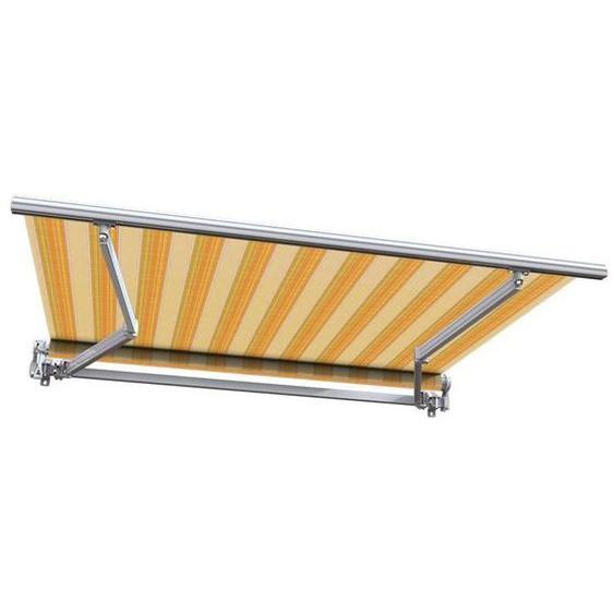 Store banne manuel Monobloc pour terrasse - Jaune rayé - 3 x 2,5 m - Toscane - SUNNY INCH ®
