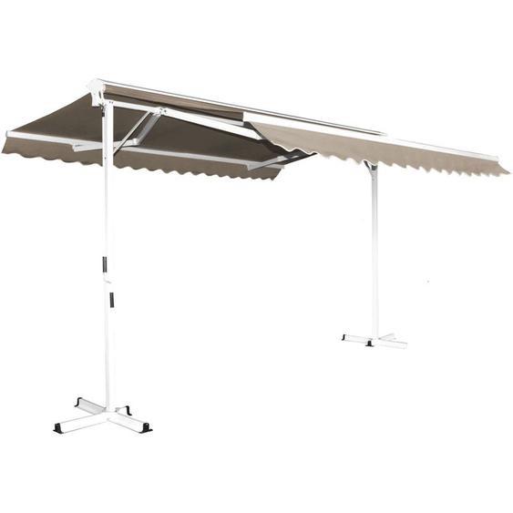 Store double pente avec coffre 3 x 4 m Delgada - Beige - OVIALA