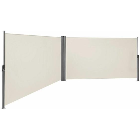 Songmics - Store latéral abri soleil 180 x 600cm latéral rétractable extérieur brise vue pour terrasse Certifié par TÜV SÜD Beige GSA360E - Beige