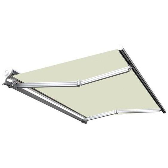 Store banne manuel Demi coffre pour terrasse - Écru - 3,6 x 3 m - SUNNY INCH ®