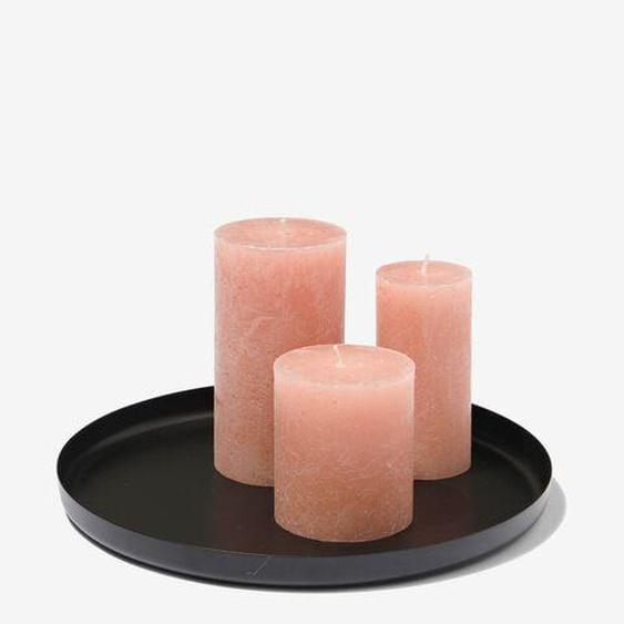 Support À Bougies - Ø 25 Cm - Noir (noir)