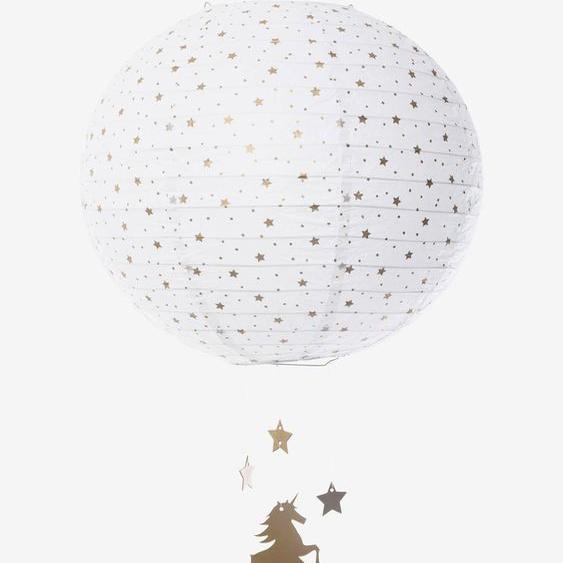 Suspension boule en papier Licorne blanc