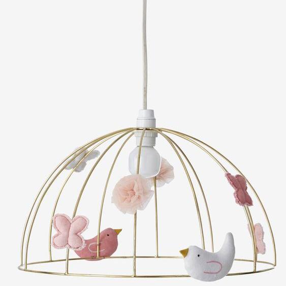Suspension Cage à oiseaux doré