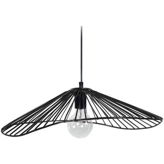 Suspension filaire design métal noir MILADY