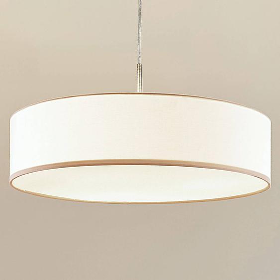 Suspension LED Sebastin en tissu de couleur crème