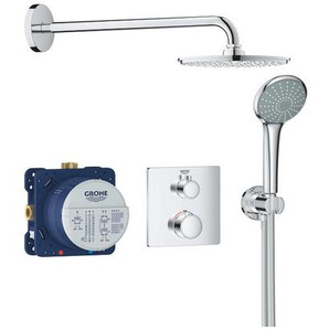 Grohe Set de douche Rainshower Cosmopolitan 210 avec thermostat encastré, chrome (34734000)