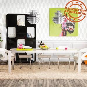 Table à dîner extensible TITAN design blanche  - 190(270)x95 cm