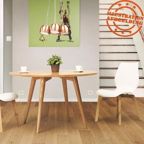 Table à dîner ronde SWEDY en bois style scandinave - Ø 120 cm