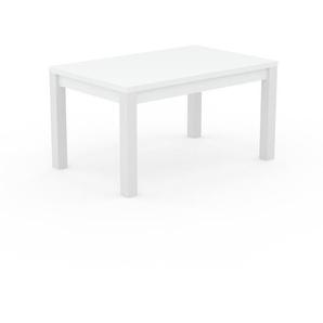 Table à manger - Blanc, avec cadre Blanc - 140 x 76 x 90 cm, personnalisable