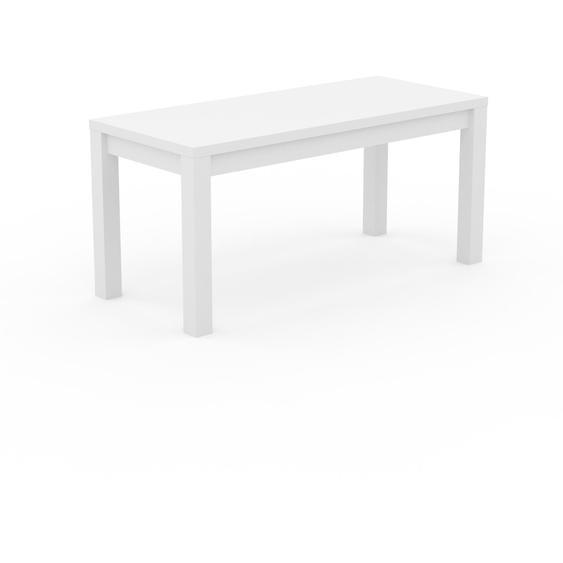 Table à manger - Blanc, avec cadre Blanc - 160 x 76 x 70 cm, personnalisable