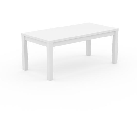 Table à manger - Blanc, avec cadre Blanc - 180 x 76 x 90 cm, personnalisable