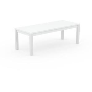 Table à manger - blanc, avec cadre blanc - 220 x 76 x 90 cm, personnalisable