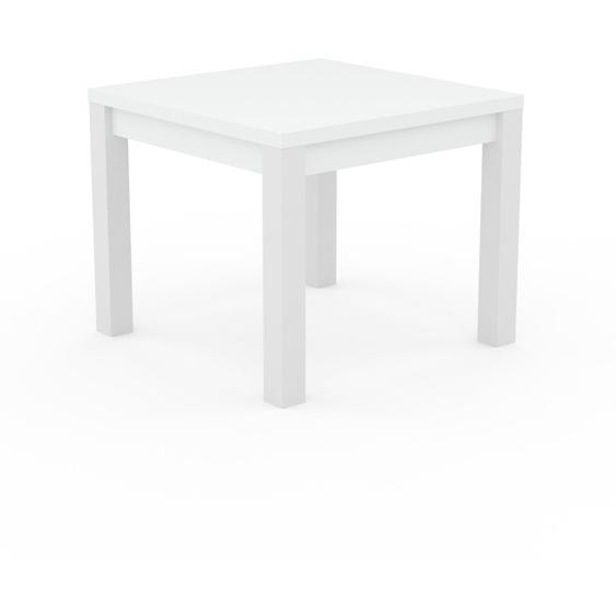 Table à manger - Blanc, avec cadre Blanc - 90 x 76 x 90 cm, personnalisable