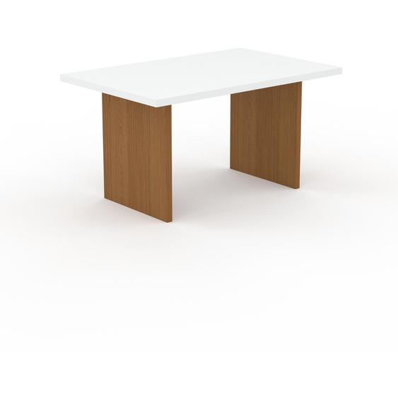 Table à manger - Blanc, design, pour salle à manger ou cuisine plateau de qualité - 140 x 75 x 90 cm, personnalisable