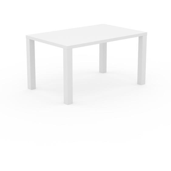 Table à manger - Blanc, design, pour salle à manger ou cuisine plateau de qualité - 140 x 76 x 90 cm, personnalisable