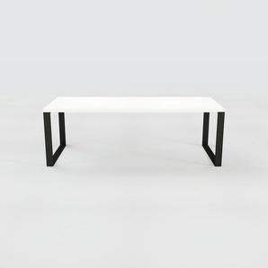 Table à manger - Blanc, design, pour salle à manger ou cuisine plateau de qualité - 220 x 75 x 90 cm, personnalisable