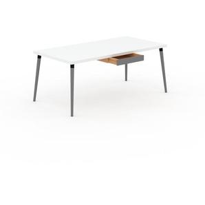 Table à manger - Blanc, design scandinave, pour salle à manger ou cuisine nordique - 180 x 75 x 90 cm, personnalisable