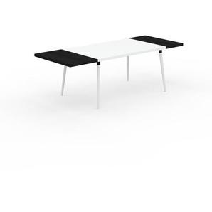 Table à manger - Blanc, design scandinave, pour salle à manger ou cuisine nordique, table extensible à rallonge - 230 x 75 x 90 cm