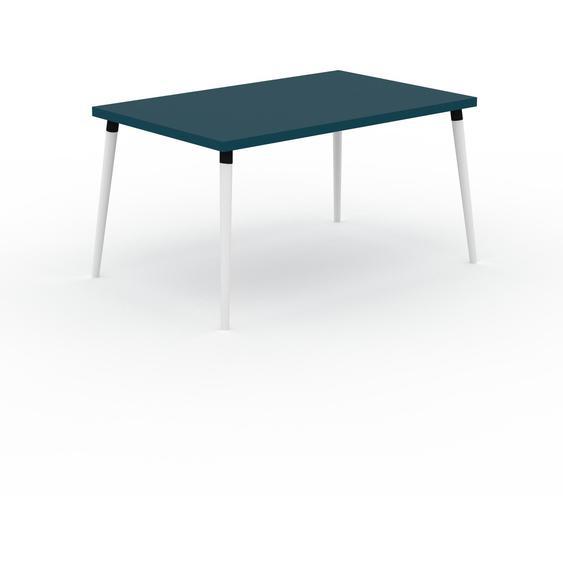 Table à manger - Bleu, design scandinave, pour salle à manger ou cuisine nordique - 140 x 75 x 90 cm, personnalisable