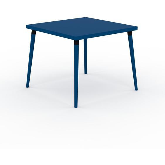 Table à manger - Bleu, design scandinave, pour salle à manger ou cuisine nordique - 90 x 75 x 90 cm, personnalisable