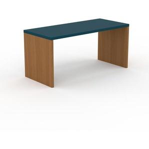 Table à manger - Bleu, design, pour salle à manger ou cuisine plateau de qualité - 160 x 75 x 70 cm, personnalisable