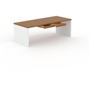 Table à manger - Chêne, design, avec tiroir Chêne - 220 x 75 x 90 cm, personnalisable