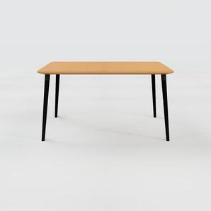 Table à manger - Chêne, design scandinave, pour salle à manger ou cuisine nordique - 140 x 75 x 90 cm, personnalisable