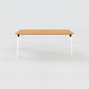 Table à manger - Chêne, design scandinave, pour salle à manger ou cuisine nordique - 180 x 75 x 90 cm, personnalisable