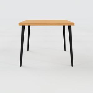 Table à manger - Chêne, design scandinave, pour salle à manger ou cuisine nordique - 90 x 75 x 90 cm, personnalisable