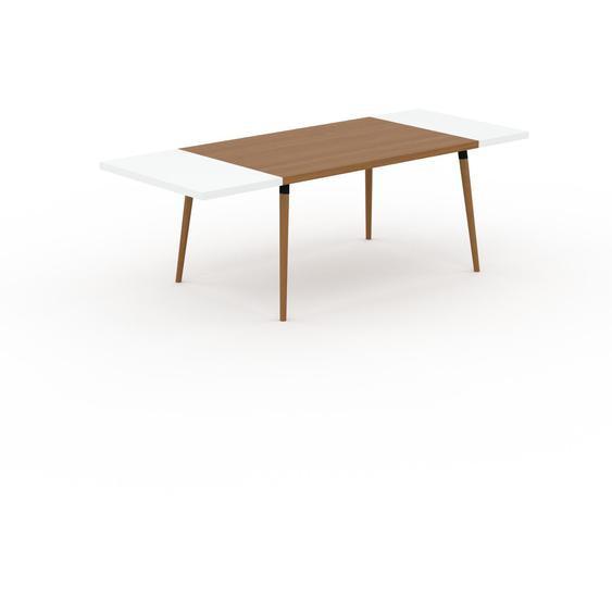 Table à manger - Chêne, design scandinave, pour salle à manger ou cuisine nordique, table extensible à rallonge - 230 x 75 x 90 cm