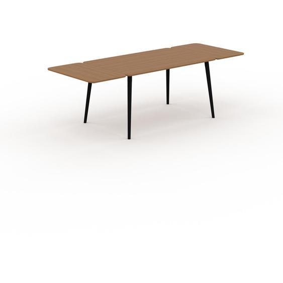 Table à manger - Chêne, design scandinave, pour salle à manger ou cuisine nordique, table extensible à rallonge - 240 x 75 x 90 cm