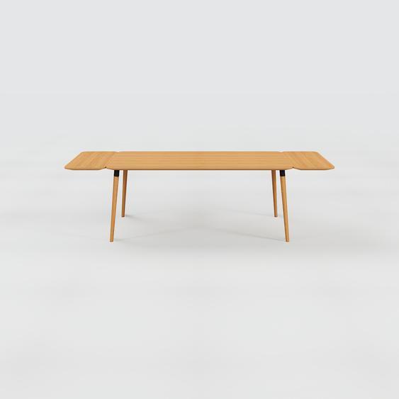 Table à manger - Chêne, design scandinave, pour salle à manger ou cuisine nordique, table extensible à rallonge - 260 x 75 x 90 cm
