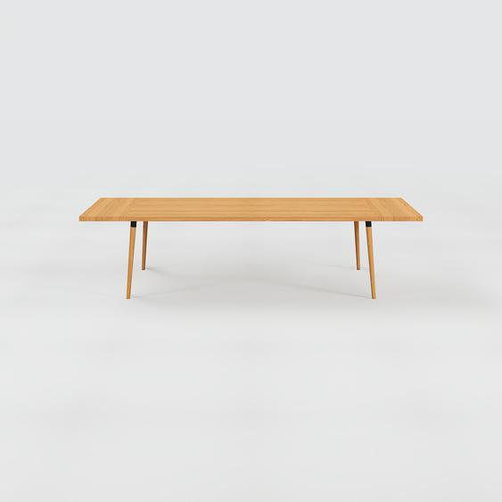 Table à manger - Chêne, design scandinave, pour salle à manger ou cuisine nordique, table extensible à rallonge - 300 x 75 x 90 cm
