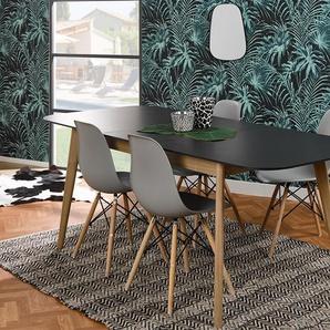 Table avec rallonge Eden Chêne naturel et fumé