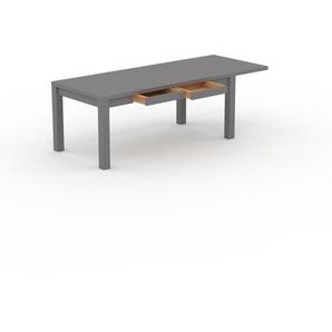 Table à manger extensible - Gris, contemporaine, pour salle à manger ou cuisine, avec une rallonge Gris - 230 x 76 x 90 cm, personnalisable
