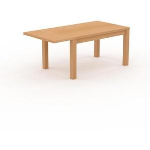 Table à manger extensible - Hêtre, contemporaine, pour salle à manger ou cuisine, avec une rallonge Hêtre - 180 x 76 x 90 cm, personnalisable