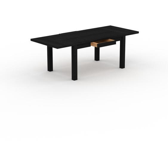 Table à manger extensible - Wengé, moderne, pour salle à manger ou cuisine, avec deux rallonges - 220 x 76 x 90 cm, personnalisable