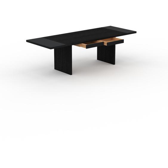 Table à manger extensible - Wengé, moderne, pour salle à manger ou cuisine, avec deux rallonges - 250 x 75 x 90 cm, personnalisable