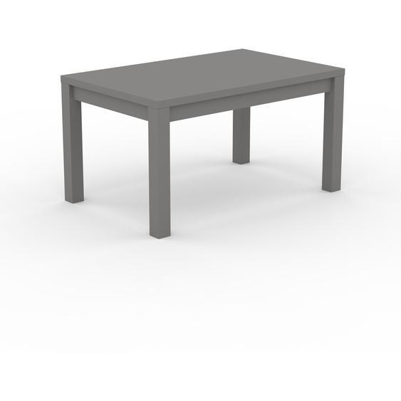 Table à manger - Gris, avec cadre Gris - 140 x 76 x 90 cm, personnalisable