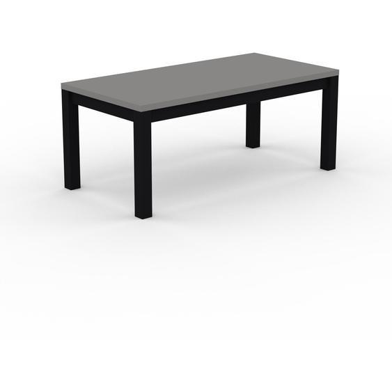 Table à manger - Gris, avec cadre Noir - 180 x 76 x 90 cm, personnalisable