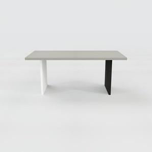 Table à manger - Gris, design, pour salle à manger ou cuisine plateau de qualité - 180 x 75 x 90 cm, personnalisable