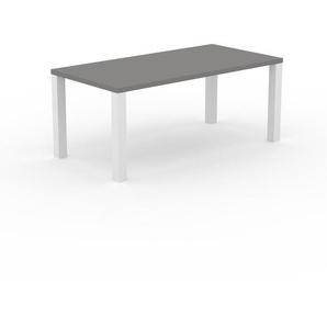 Table à manger - Gris, design, pour salle à manger ou cuisine plateau de qualité - 180 x 76 x 90 cm, personnalisable